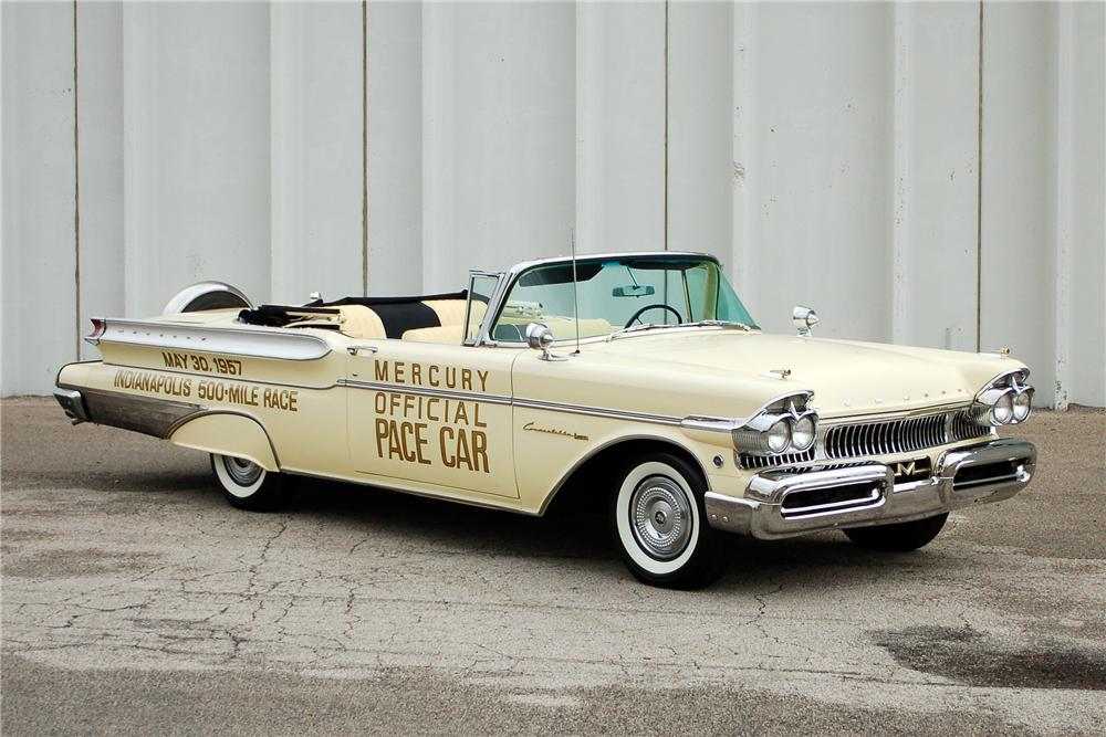 1957 MERCURY TURNPIKE CRUISER CONVERTIBLE PACE CAR - Front 3/4 - 163398