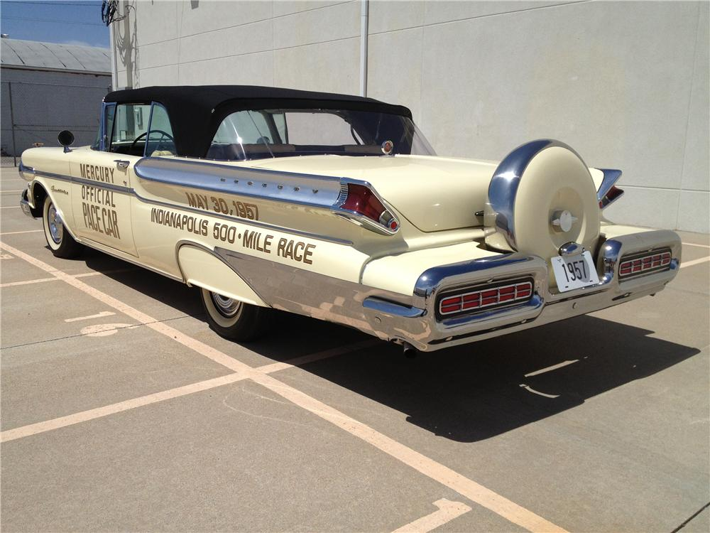 1957 MERCURY TURNPIKE CRUISER CONVERTIBLE PACE CAR - Rear 3/4 - 163398