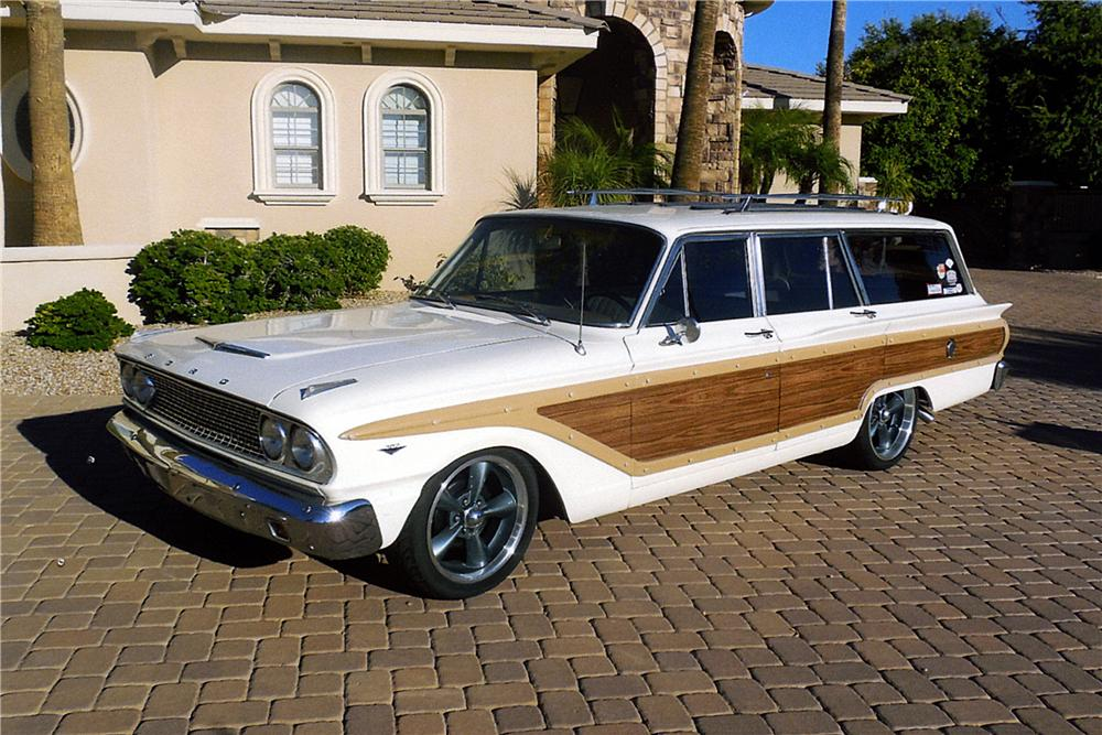 1963 FORD FAIRLANE CUSTOM STATION WAGON - Front 3/4 - 163404