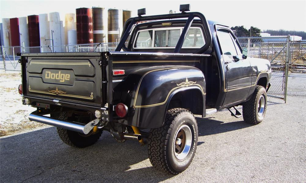 1977 DODGE POWER WAGON PICKUP - Rear 3/4 - 16341