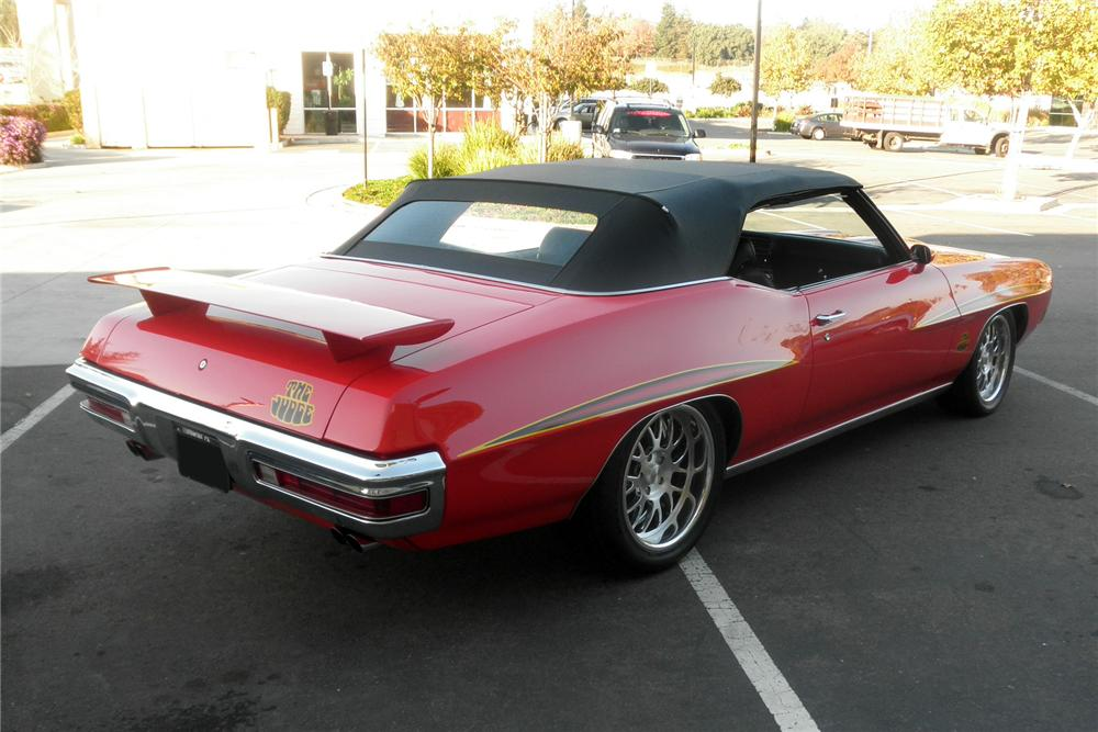 1970 PONTIAC LEMANS CUSTOM CONVERTIBLE - Rear 3/4 - 163410