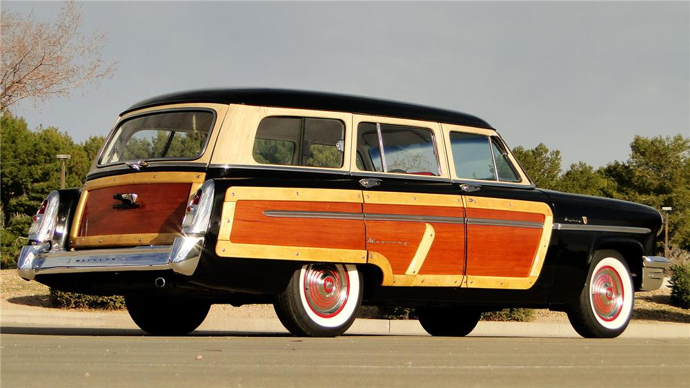 1953 MERCURY MONTEREY WOODY WAGON - Rear 3/4 - 163436