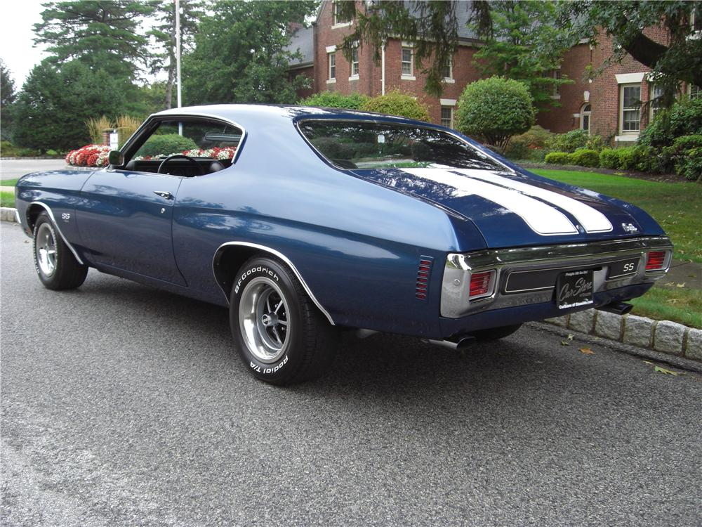 1970 CHEVROLET CHEVELLE SS LS6 COUPE - Rear 3/4 - 163437