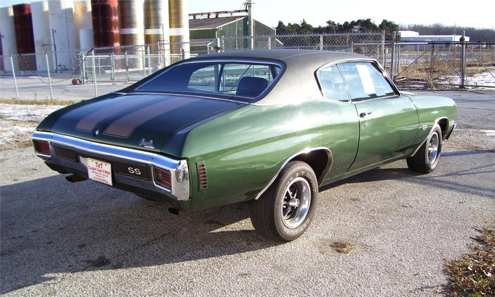 1970 CHEVROLET CHEVELLE SS COUPE - Rear 3/4 - 16350