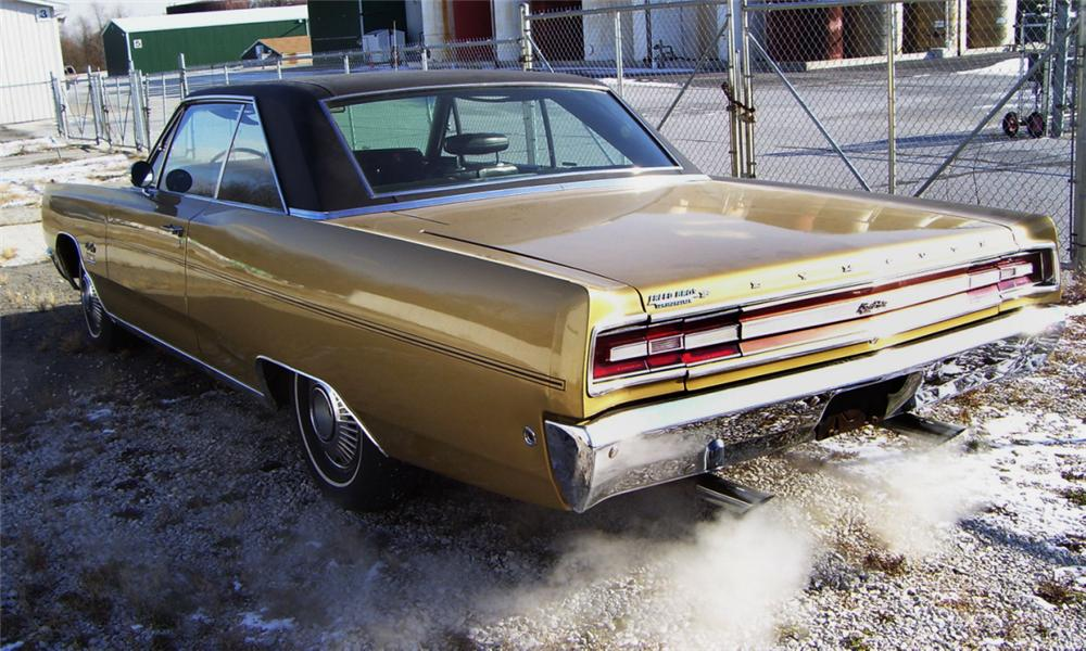 1968 PLYMOUTH SPORT FURY 2 DOOR HARDTOP - Rear 3/4 - 16353