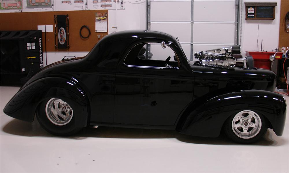1941 WILLYS AMERICAR COUPE - Side Profile - 16355