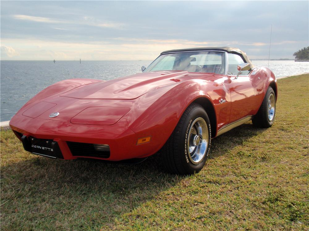 1975 CHEVROLET CORVETTE CONVERTIBLE - Front 3/4 - 170037