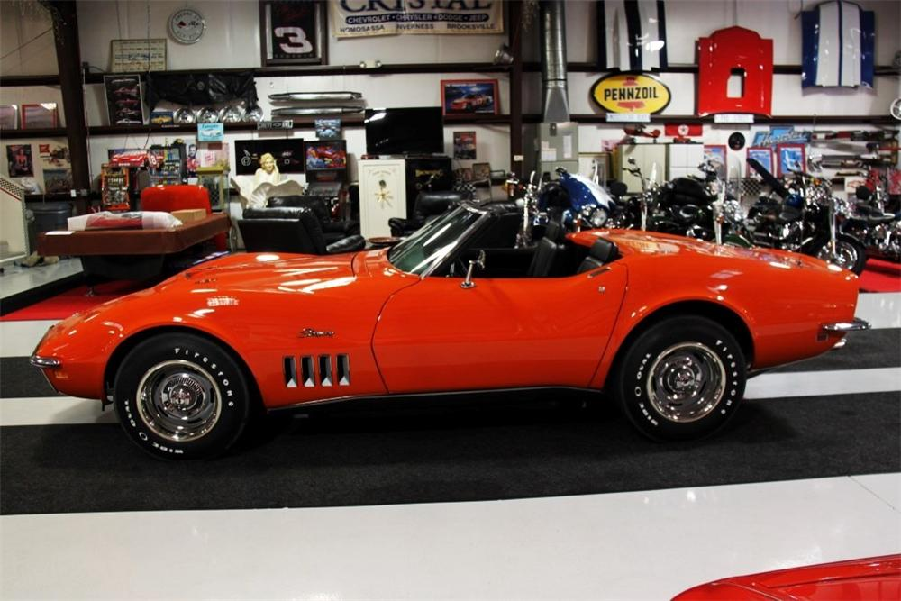 1969 CHEVROLET CORVETTE CONVERTIBLE - Side Profile - 170038