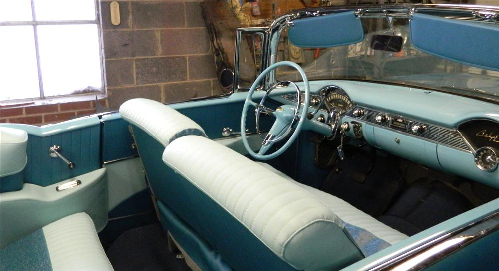 1956 CHEVROLET BEL AIR CONVERTIBLE - Interior - 170043