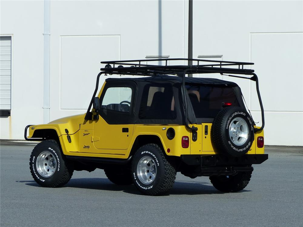 2000 JEEP WRANGLER CUSTOM SUV - Rear 3/4 - 170047
