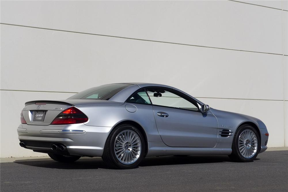 2004 MERCEDES-BENZ SL55 AMG CONVERTIBLE - Rear 3/4 - 170050