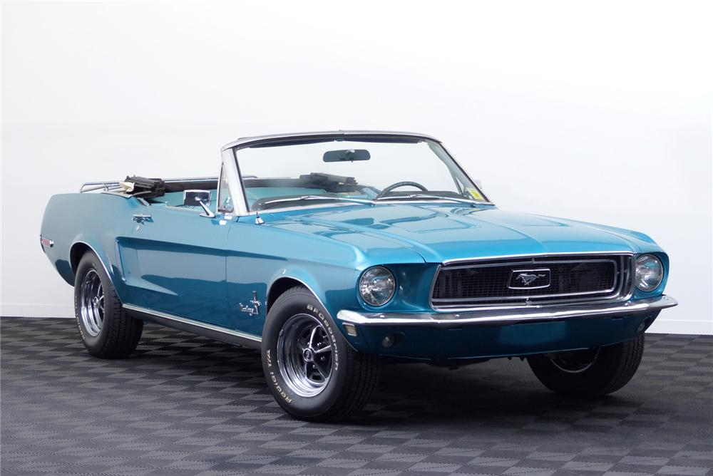 1968 FORD MUSTANG CONVERTIBLE - Front 3/4 - 170051
