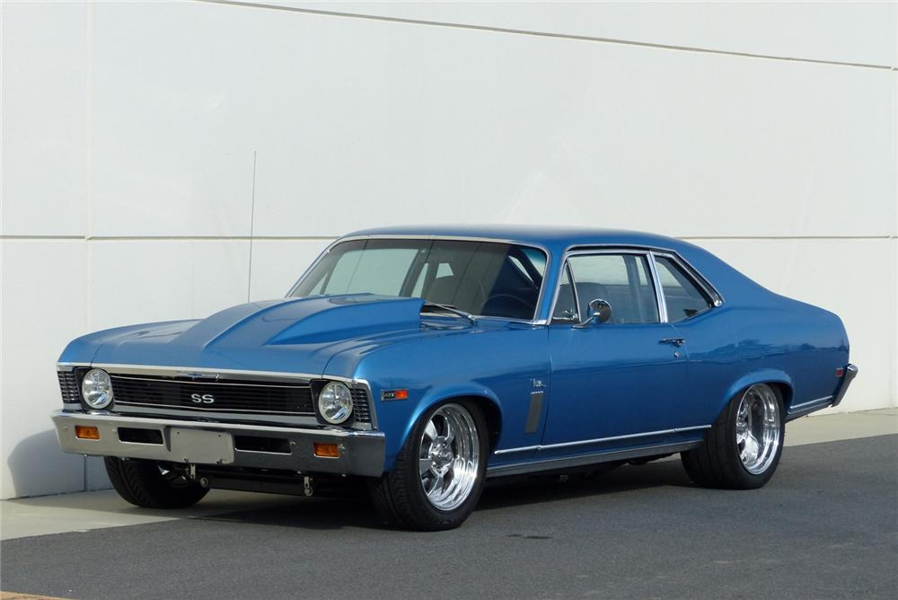 1969 CHEVROLET NOVA SS CUSTOM 2 DOOR COUPE - Front 3/4 - 170058