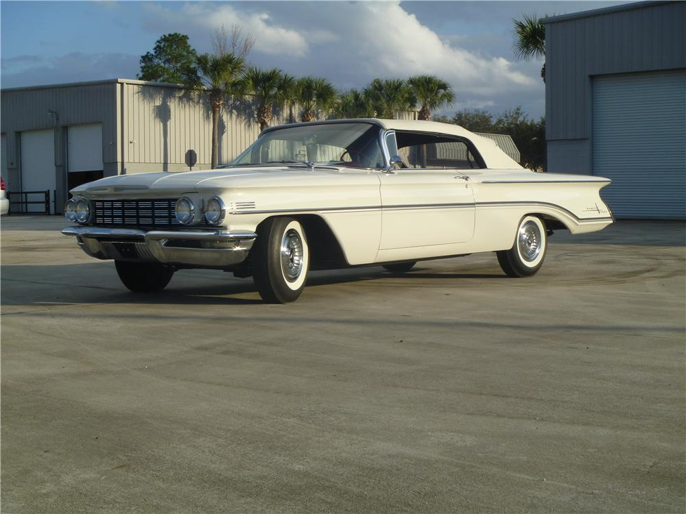 1960 OLDSMOBILE 98 CONVERTIBLE - Front 3/4 - 170060