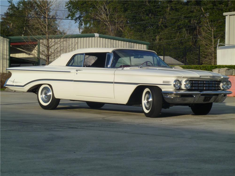 1960 OLDSMOBILE 98 CONVERTIBLE - Side Profile - 170060