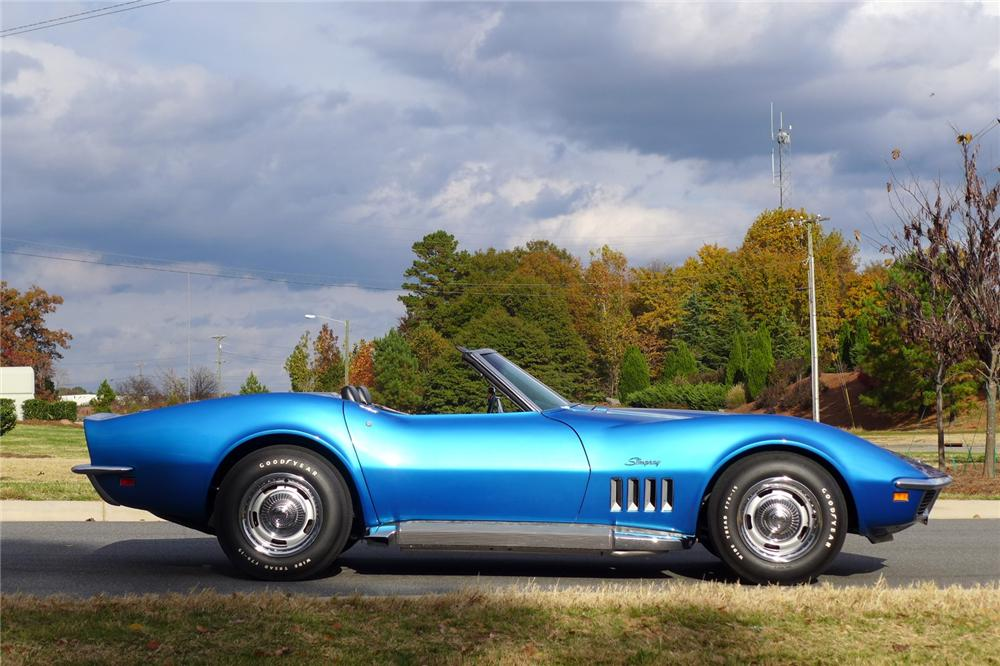 1969 CHEVROLET CORVETTE CONVERTIBLE - Side Profile - 170061
