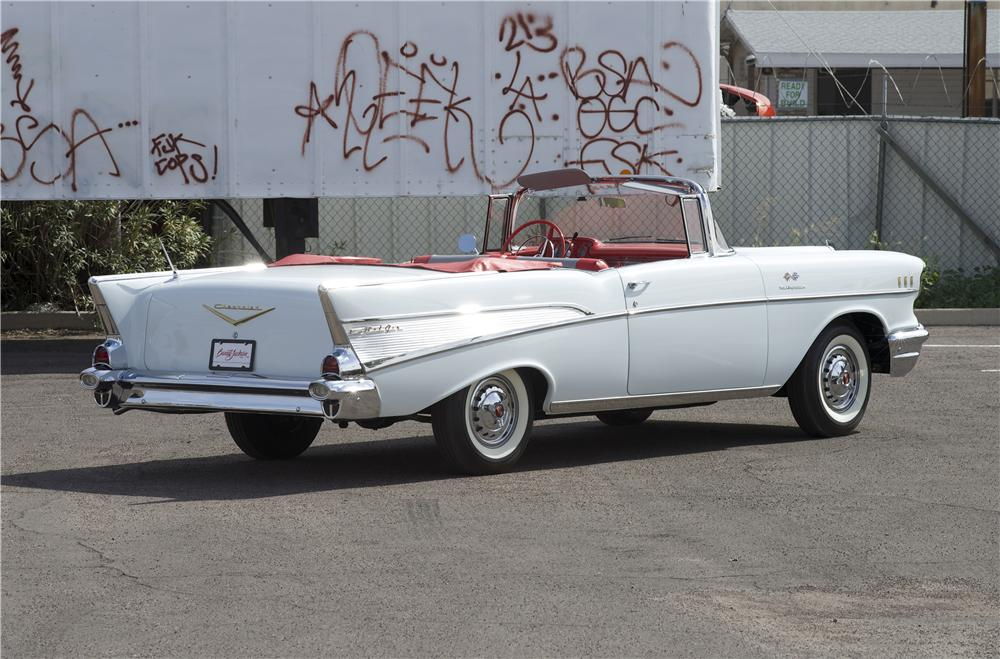 1957 CHEVROLET BEL AIR CONVERTIBLE - Rear 3/4 - 170068