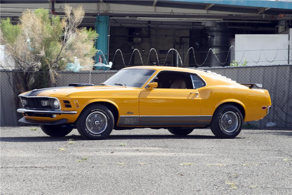 1970 FORD MUSTANG MACH 1 428 CJ FASTBACK - Front 3/4 - 170069
