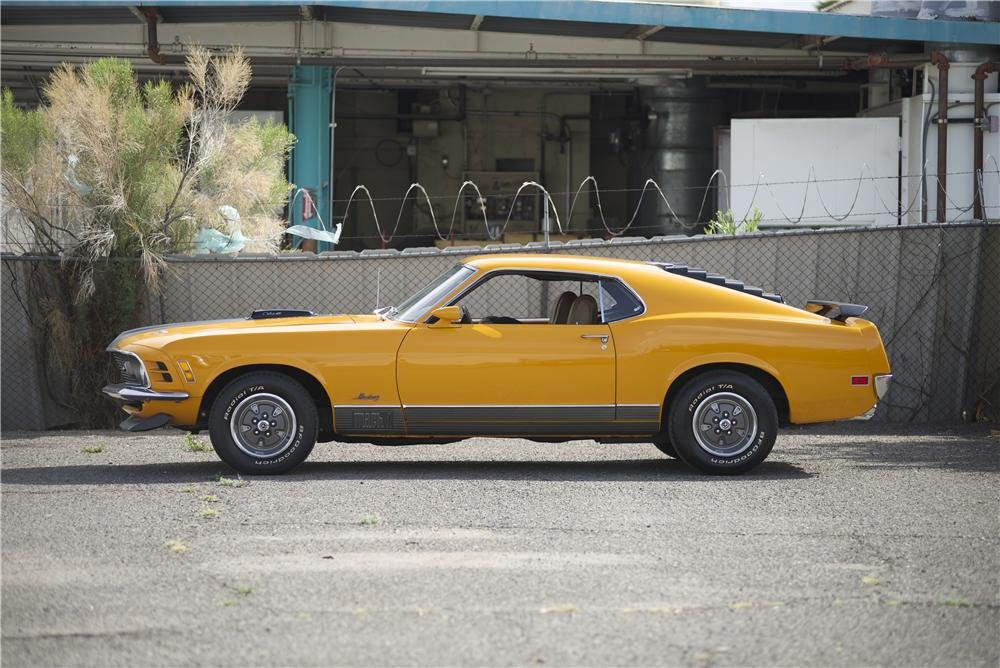 1970 FORD MUSTANG MACH 1 428 CJ FASTBACK - Side Profile - 170069