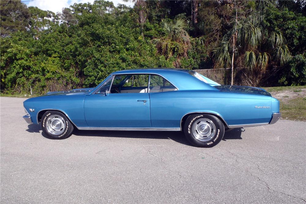 1966 CHEVROLET CHEVELLE SS 396 2 DOOR COUPE - Side Profile - 170071