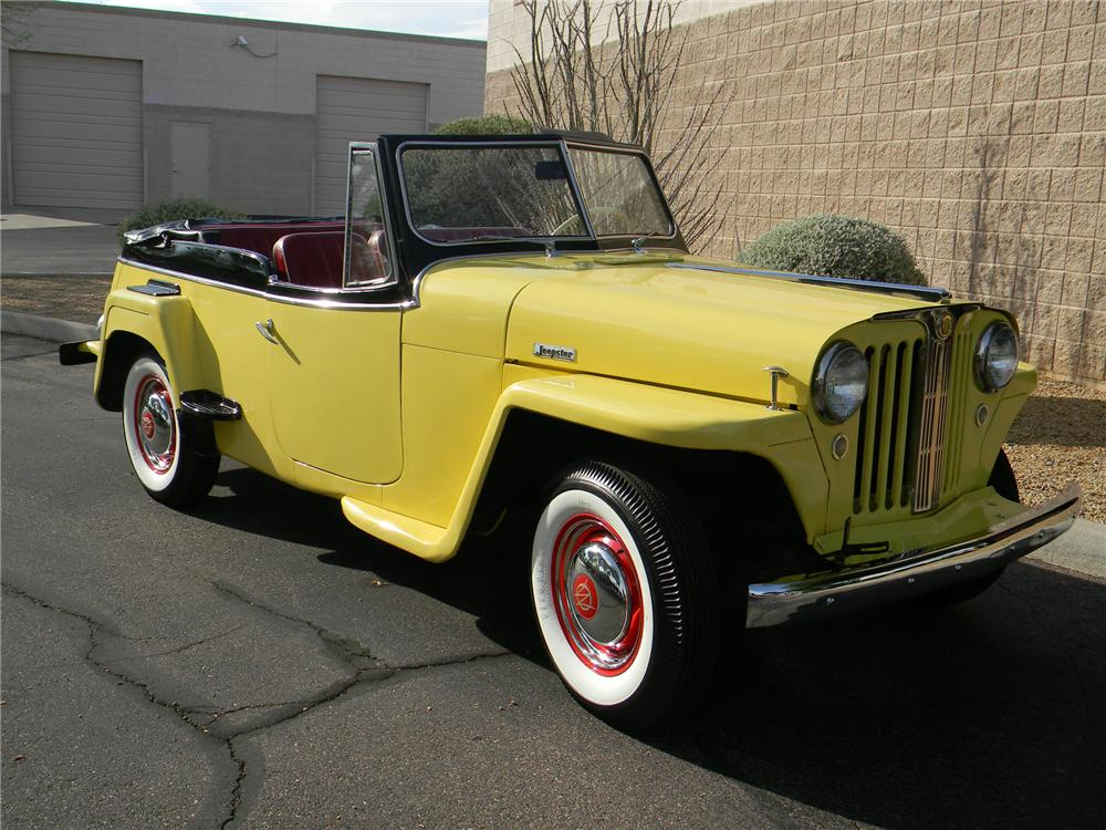 1949 WILLYS JEEPSTER CONVERTIBLE - Front 3/4 - 170084