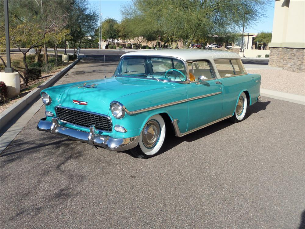 1955 CHEVROLET NOMAD STATION WAGON - Front 3/4 - 170098