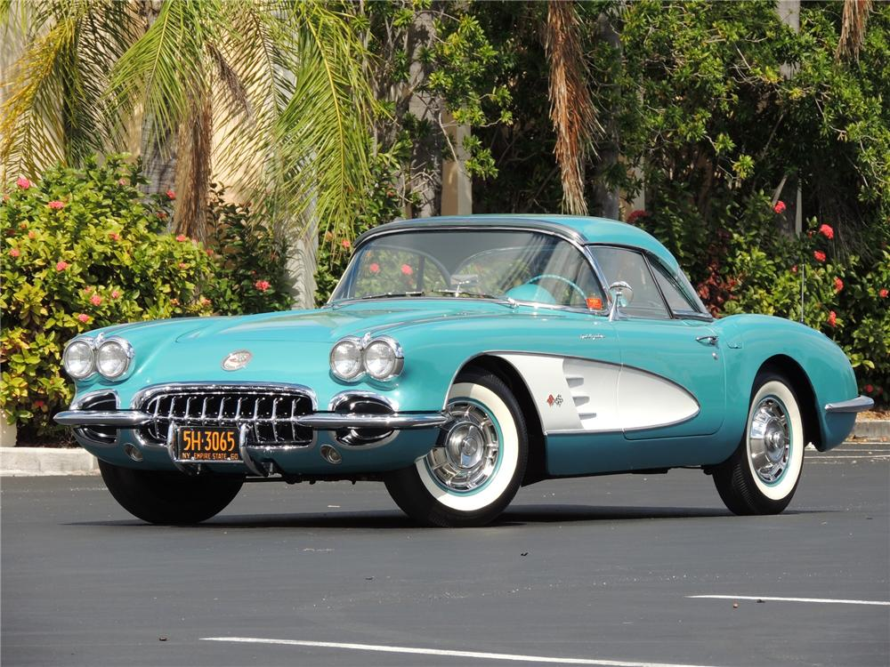 1960 CHEVROLET CORVETTE CONVERTIBLE - Front 3/4 - 170100