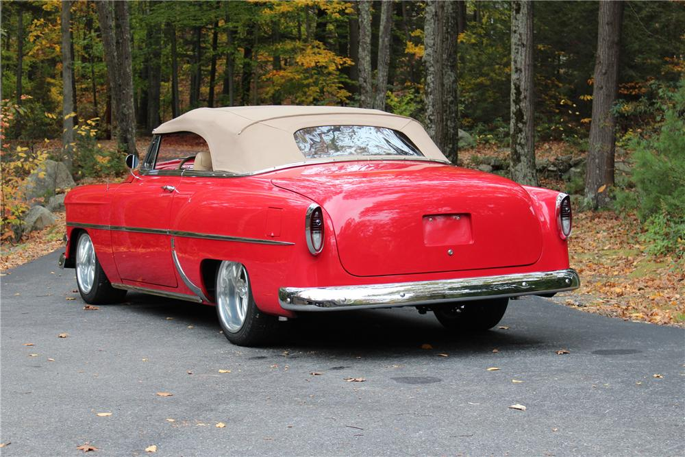1954 CHEVROLET BEL AIR CUSTOM CONVERTIBLE - Rear 3/4 - 170102