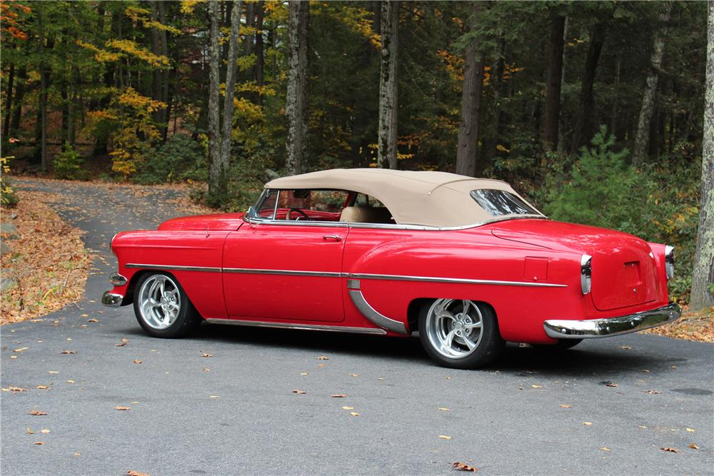 1954 CHEVROLET BEL AIR CUSTOM CONVERTIBLE - Side Profile - 170102