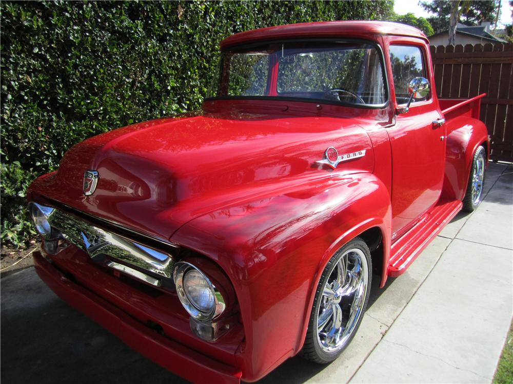 1956 FORD F-100 CUSTOM PICKUP - Front 3/4 - 170104