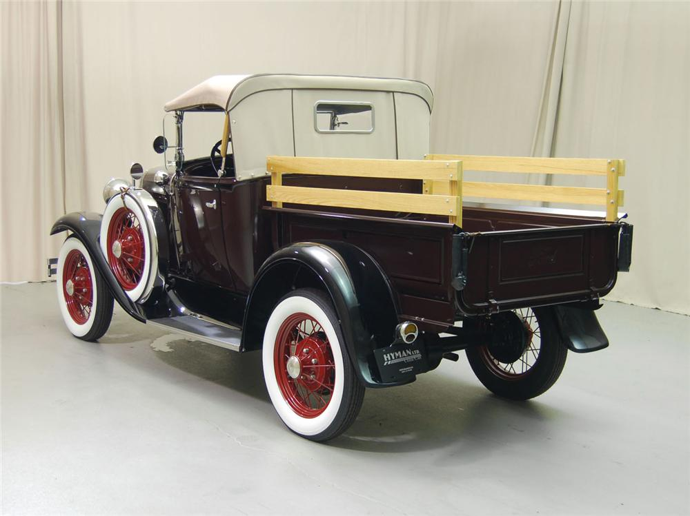1930 FORD MODEL A PICKUP - Rear 3/4 - 170107