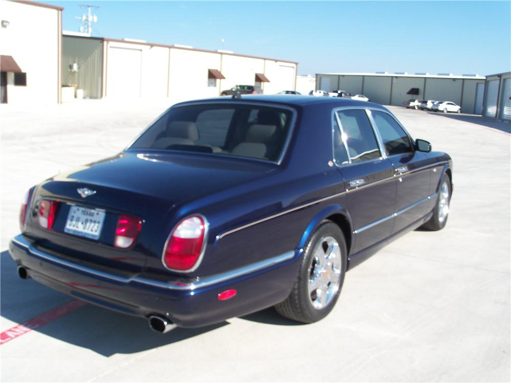 2003 BENTLEY ARNAGE 4 DOOR SEDAN - Rear 3/4 - 170113