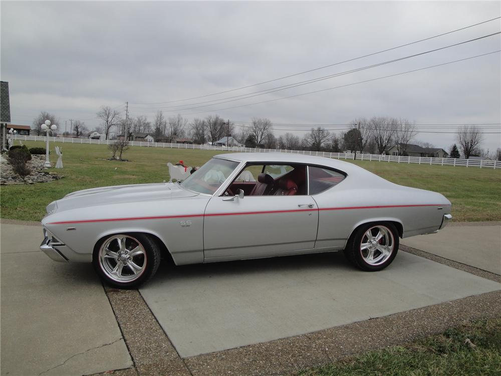 1969 CHEVROLET CHEVELLE MALIBU CUSTOM 2 DOOR COUPE - Side Profile - 170115