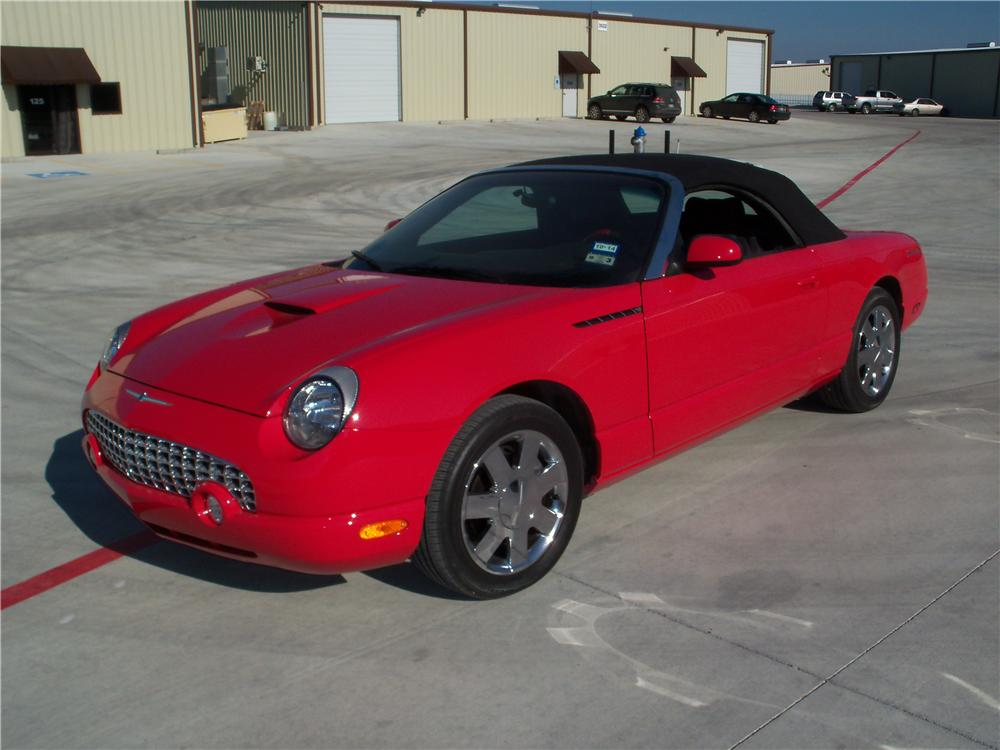 2002 FORD THUNDERBIRD CONVERTIBLE - Front 3/4 - 170116