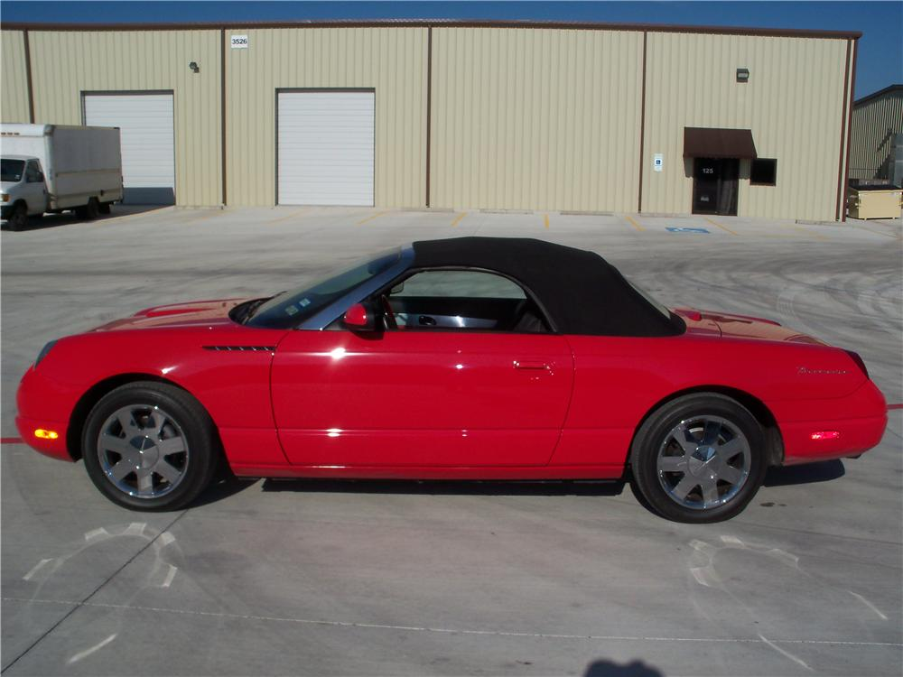 2002 FORD THUNDERBIRD CONVERTIBLE - Side Profile - 170116