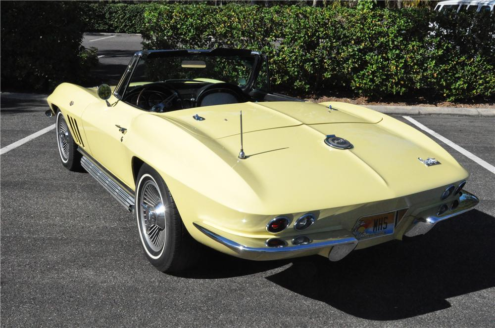 1966 CHEVROLET CORVETTE CONVERTIBLE - Rear 3/4 - 170132