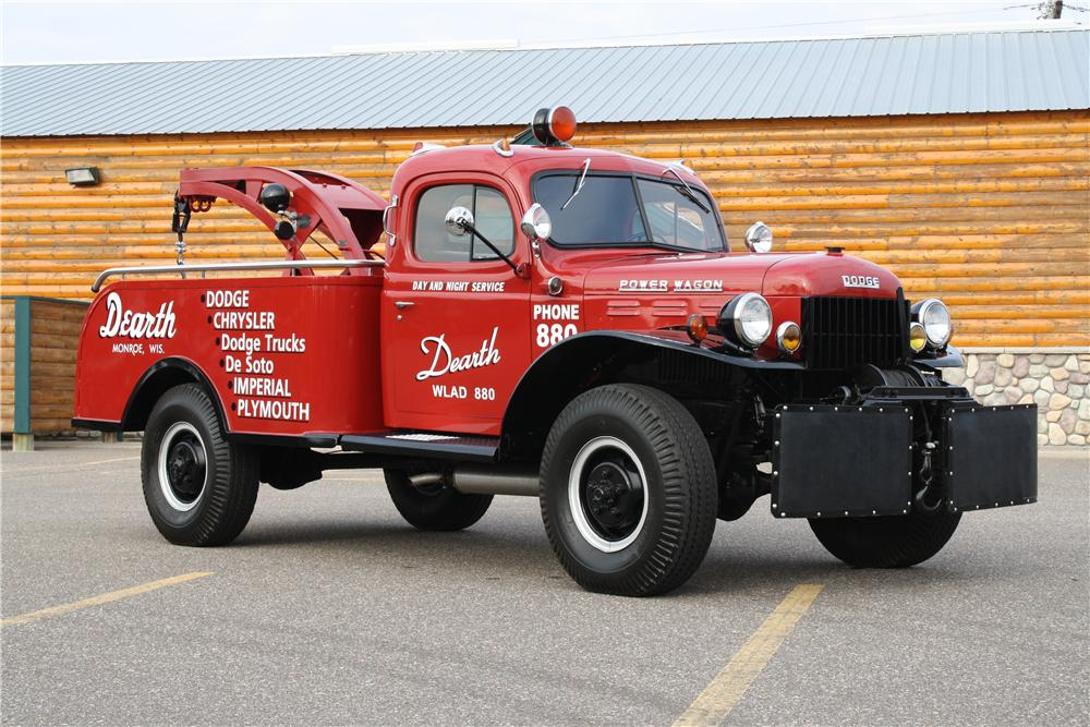 1951 DODGE POWER WAGON TOW TRUCK - Front 3/4 - 170136