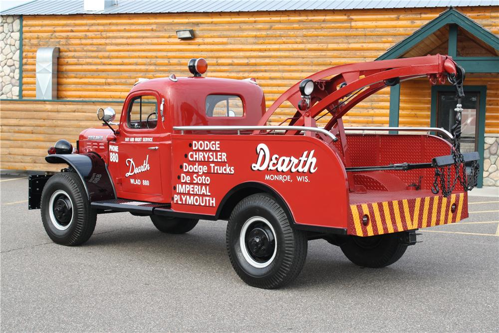 1951 DODGE POWER WAGON TOW TRUCK - Rear 3/4 - 170136