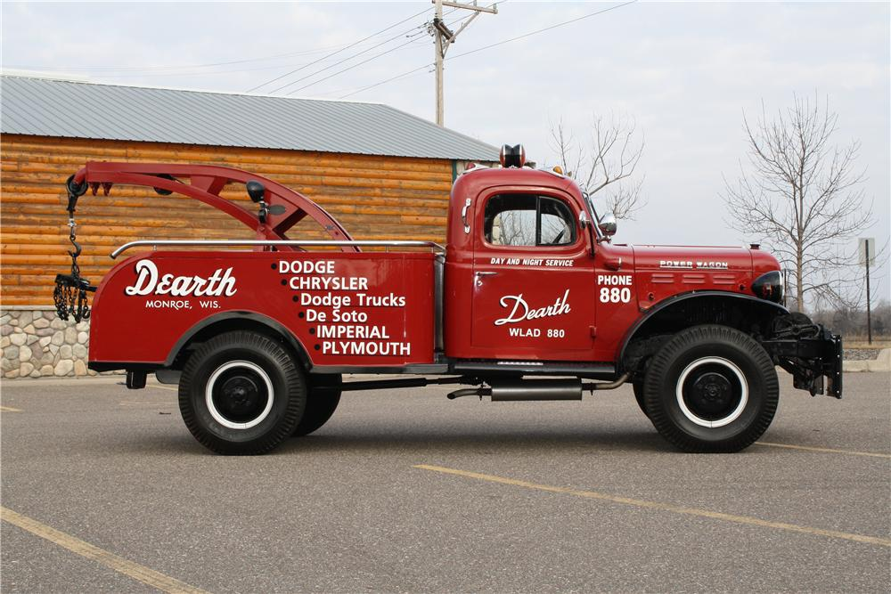 1951 DODGE POWER WAGON TOW TRUCK - Side Profile - 170136