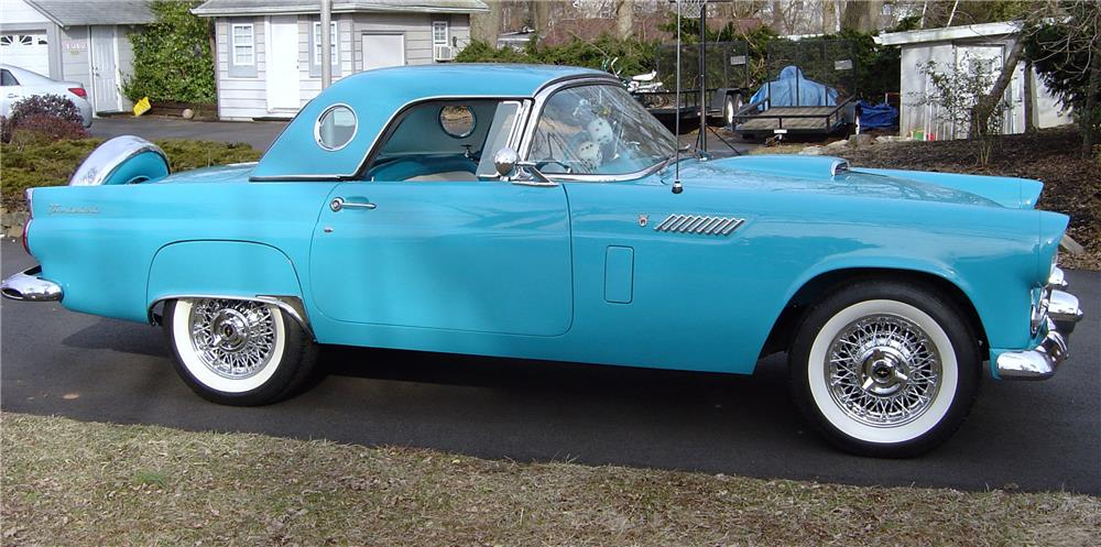 1956 FORD THUNDERBIRD CONVERTIBLE - Side Profile - 170143