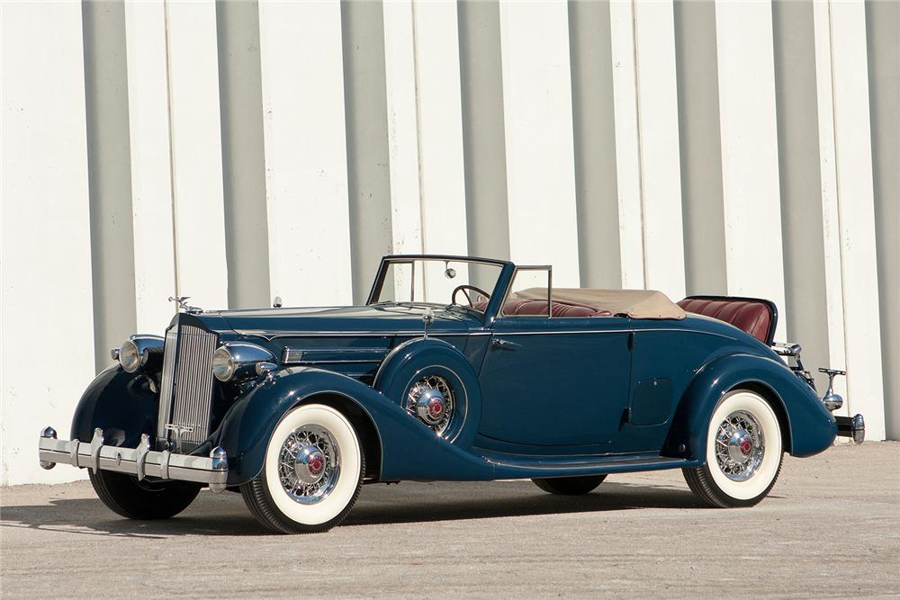1935 PACKARD 1207 V12 CONVERTIBLE COUPE - Front 3/4 - 170170