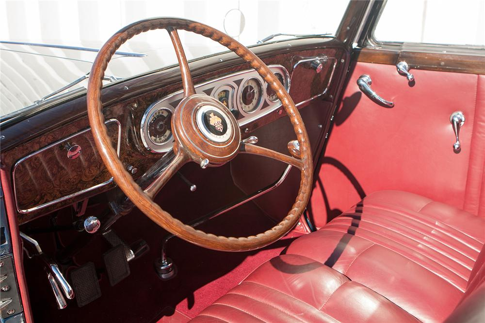 1935 PACKARD 1207 V12 CONVERTIBLE COUPE - Interior - 170170