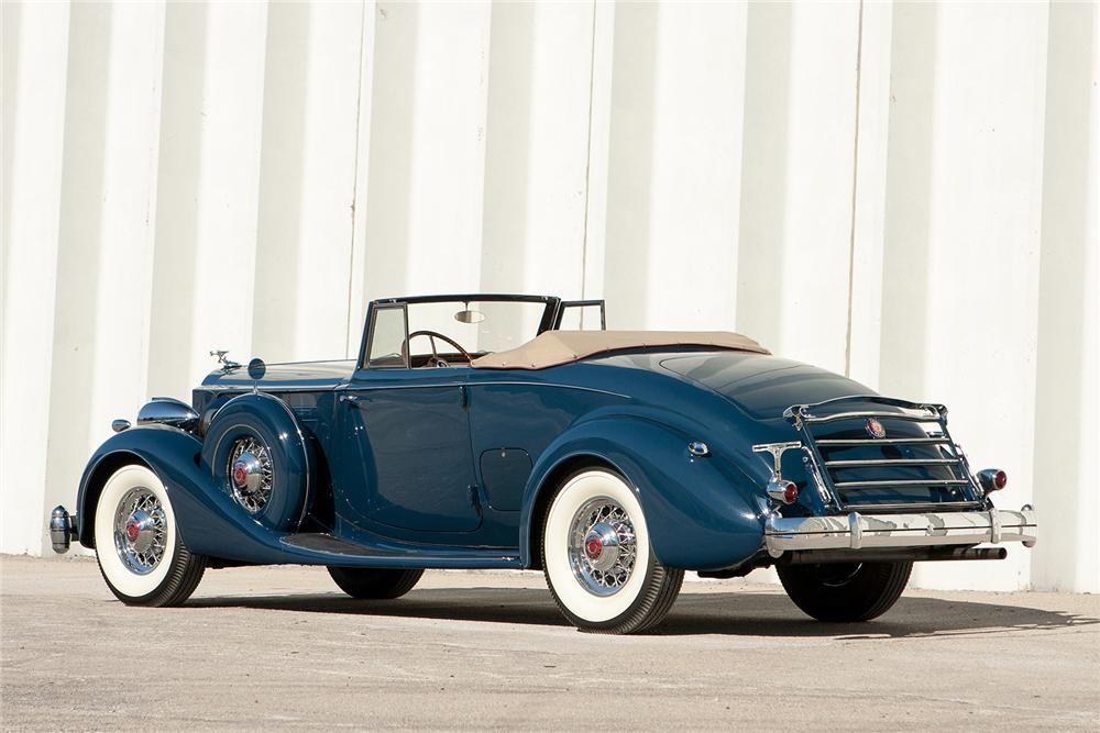 1935 PACKARD 1207 V12 CONVERTIBLE COUPE - Rear 3/4 - 170170