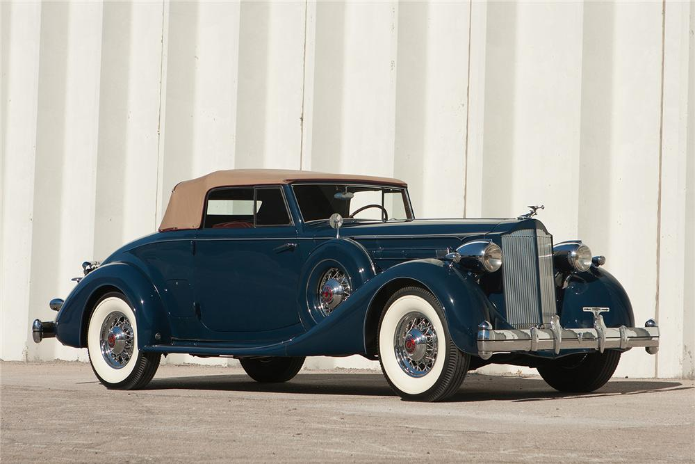 1935 PACKARD 1207 V12 CONVERTIBLE COUPE - Side Profile - 170170