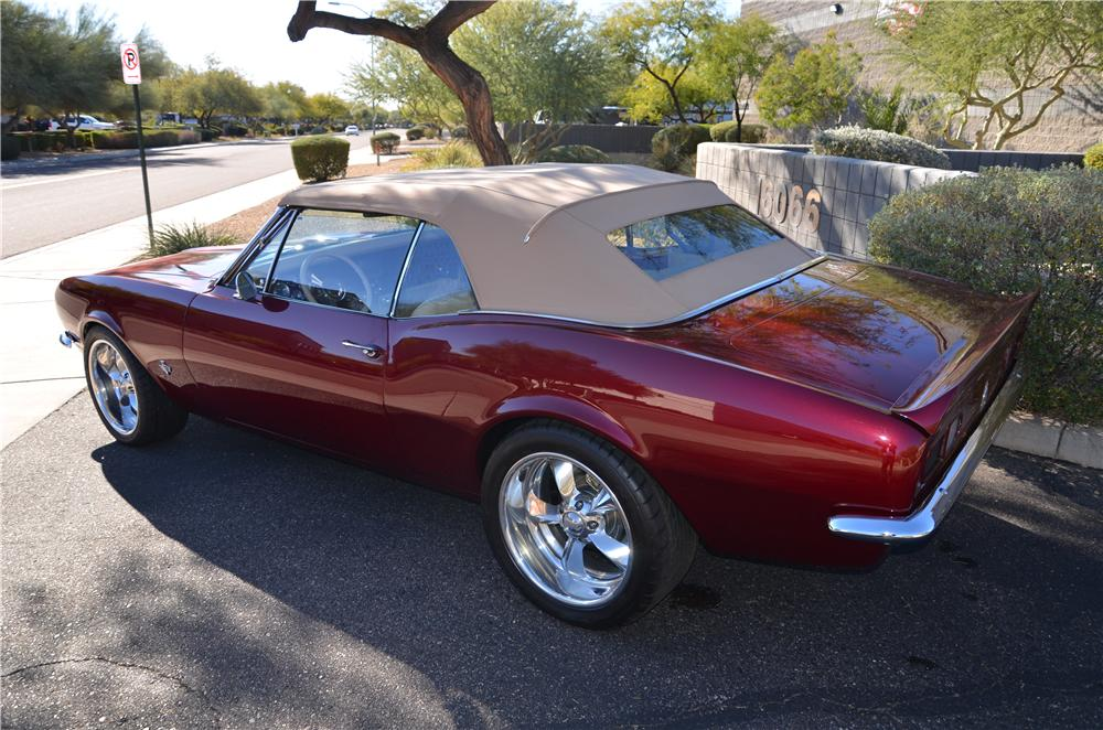 1967 CHEVROLET CAMARO CUSTOM CONVERTIBLE - Rear 3/4 - 170184