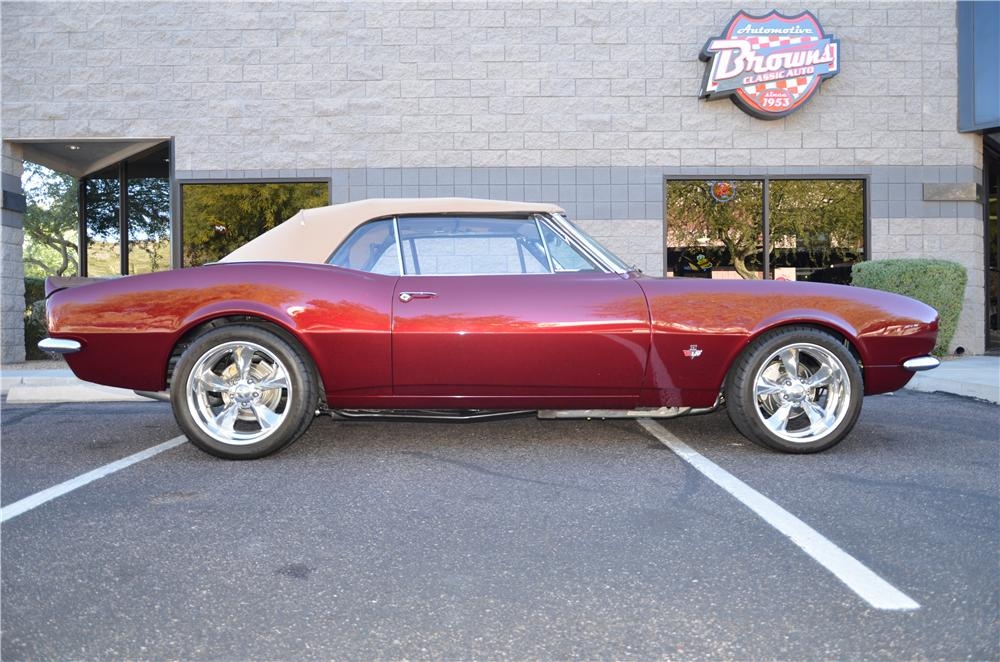 1967 CHEVROLET CAMARO CUSTOM CONVERTIBLE - Side Profile - 170184