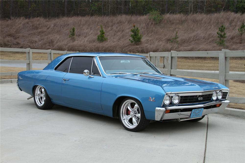 1967 CHEVROLET CHEVELLE CUSTOM 2 DOOR COUPE - Front 3/4 - 170192
