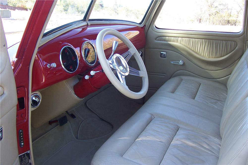 1952 CHEVROLET 3100 CUSTOM PICKUP - Interior - 170197