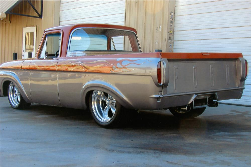 1961 FORD F-100 CUSTOM PICKUP - Rear 3/4 - 170203