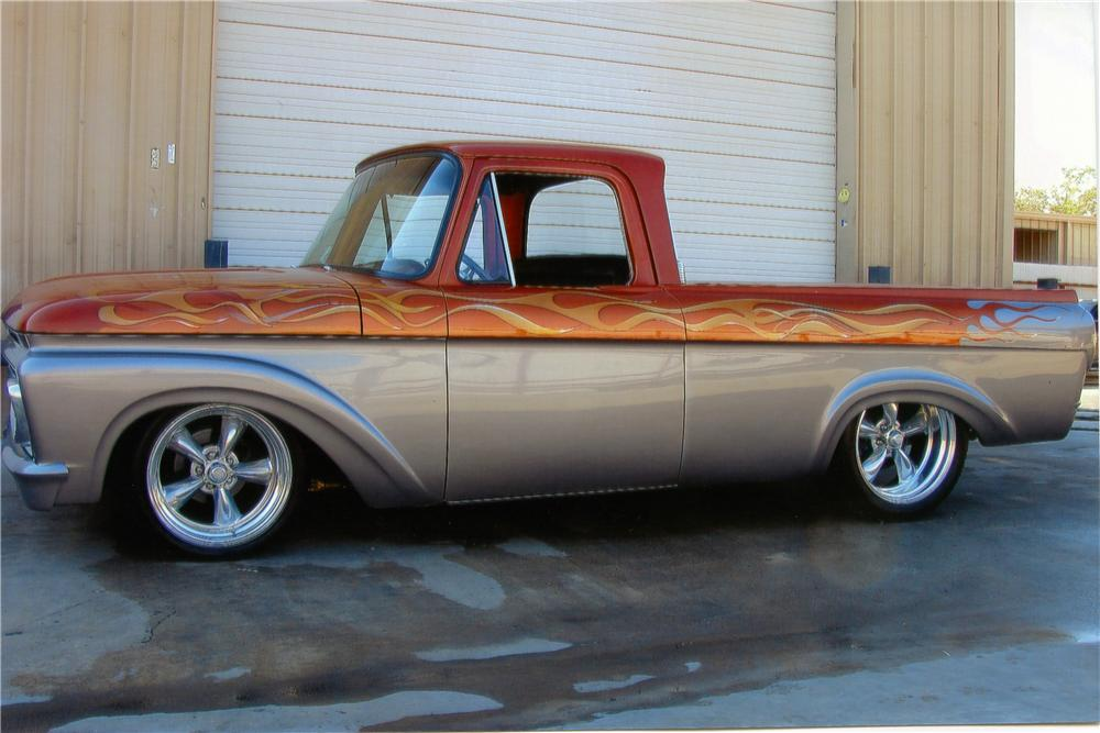 1961 FORD F-100 CUSTOM PICKUP - Side Profile - 170203